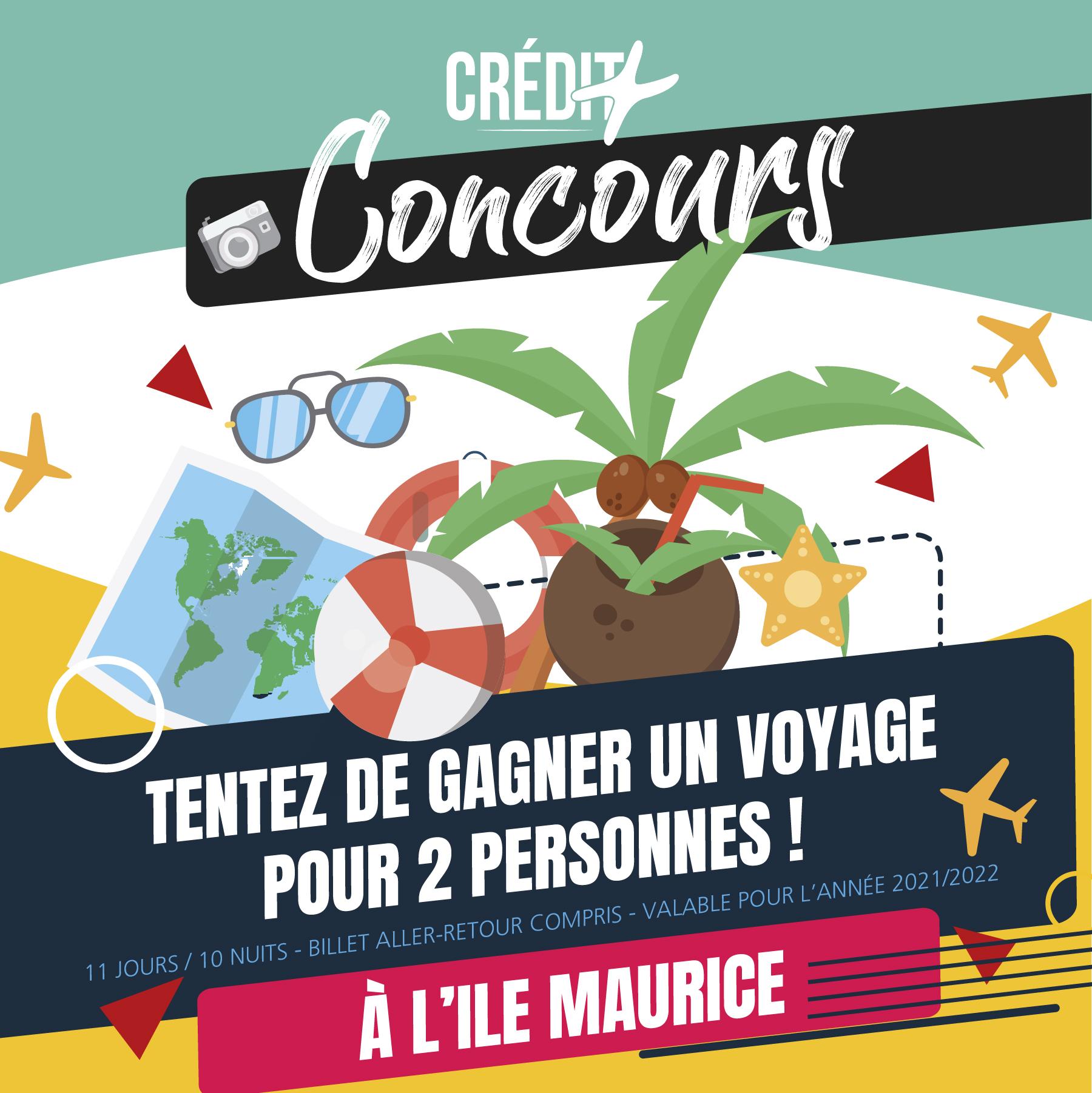 Jeu Concours : Tentez de gagner un voyage pour 2 personnes à l'île Maurice (11 jours/10 nuits, Billets A/R et valable pour l'année 2021/2022)